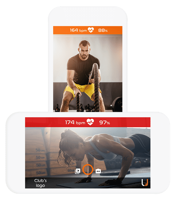 Record and share best workout moments of your Club members